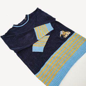 Retro Raw Blue ABR Chenille Boxy Sweater Unisex